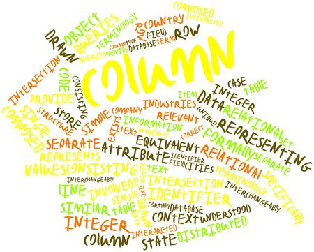 interchangeably: Abstract word cloud for Column with related tags and terms