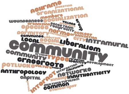 Abstract word cloud for Community with related tags and terms Stock Photo - 16617485