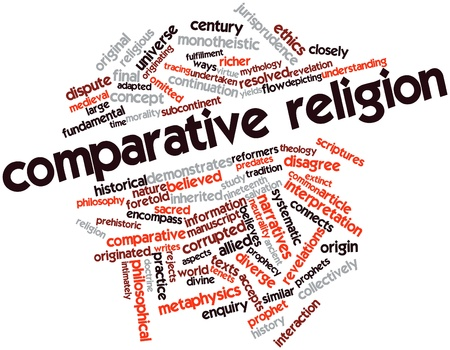 Abstract word cloud for Comparative religion with related tags and terms Stock Photo - 16617549
