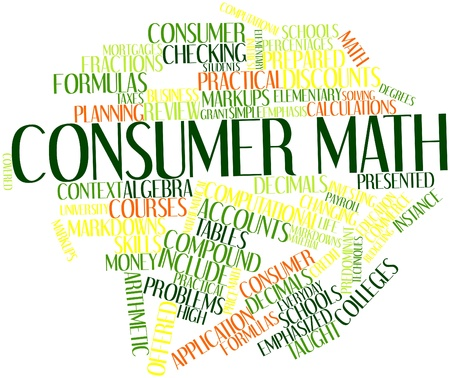 predominant: Abstract word cloud for Consumer math with related tags and terms