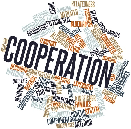 Abstract word cloud for Cooperation with related tags and terms Stock Photo - 16617656