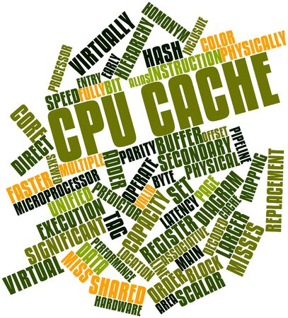 associative: Abstract word cloud for CPU cache with related tags and terms Stock Photo