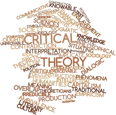thinkers: Abstract word cloud for Critical theory with related tags and terms Stock Photo