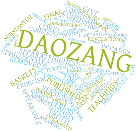 revised: Abstract word cloud for Daozang with related tags and terms Stock Photo