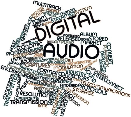 Abstract word cloud for Digital audio with related tags and terms