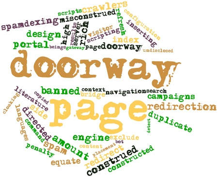 listings: Abstract word cloud for Doorway page with related tags and terms