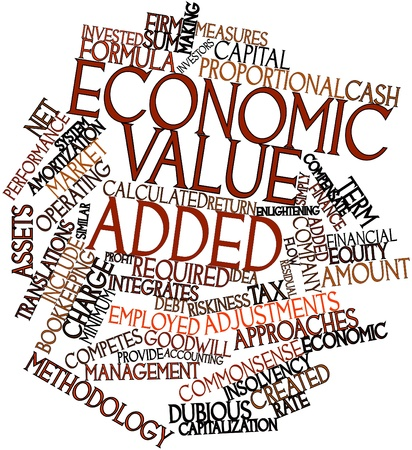 Abstract word cloud for Economic Value Added with related tags and terms photo