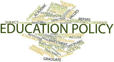 occurs: Abstract word cloud for Education policy with related tags and terms