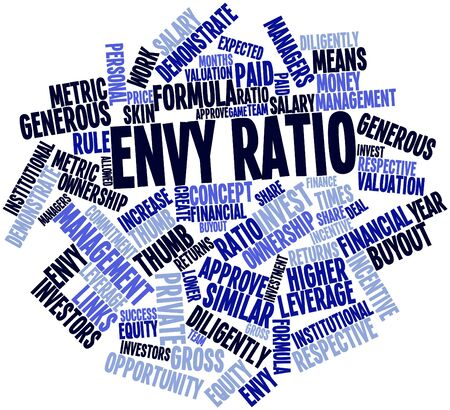 ownership equity: Abstract word cloud for Envy ratio with related tags and terms