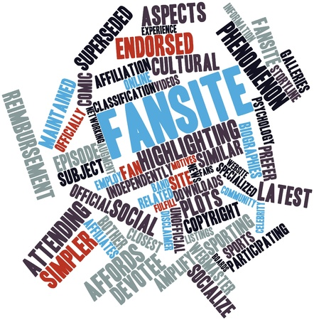 episode: Abstract word cloud for Fansite with related tags and terms