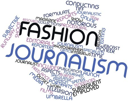 obvious: Abstract word cloud for Fashion journalism with related tags and terms