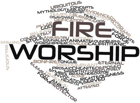 mundo contaminado: Nube palabra abstracta para la adoraci�n del fuego con las etiquetas y t�rminos relacionados
