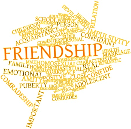 affinity: Abstract word cloud for Friendship with related tags and terms