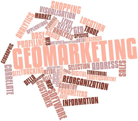 Abstract word cloud for Geomarketing with related tags and terms Stock Photo - 16617506