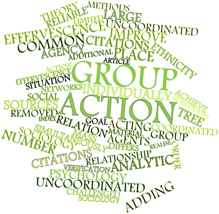 uncoordinated: Abstract word cloud for Group action with related tags and terms