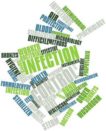 infection: Abstract word cloud for Infection control with related tags and terms