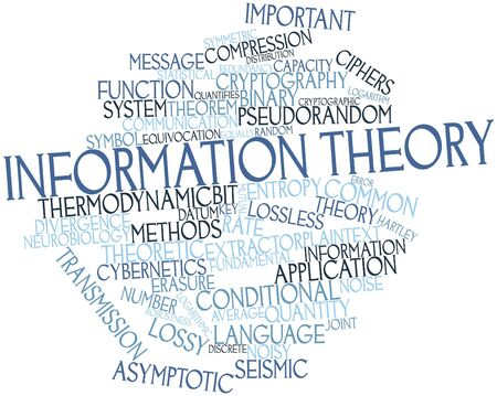 Abstract word cloud for Information theory with related tags and terms Stock Photo - 16617540