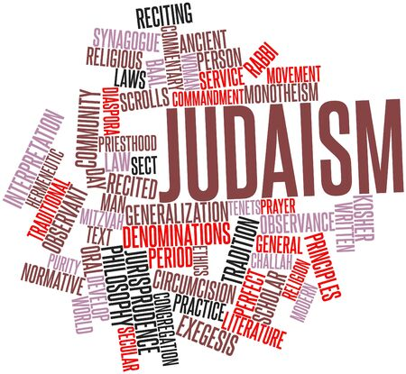 monotheism: Abstract word cloud for Judaism with related tags and terms