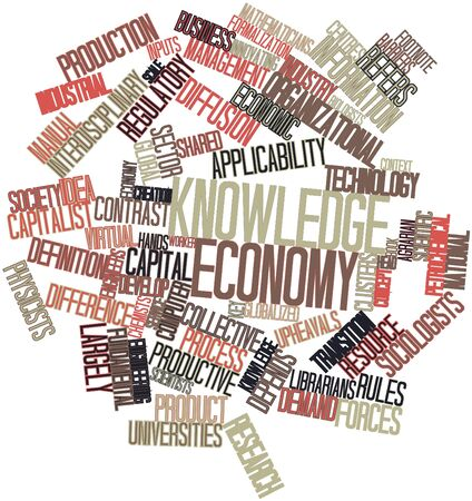depends: Abstract word cloud for Knowledge economy with related tags and terms