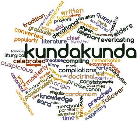 acharya: Abstract word cloud for Kundakunda with related tags and terms