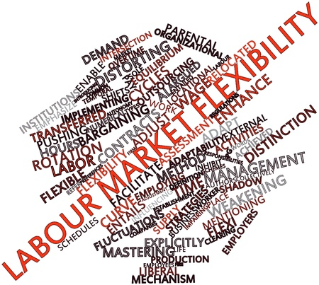 argued: Abstract word cloud for Labour market flexibility with related tags and terms