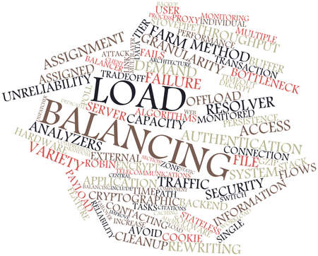Abstract word cloud for Load balancing with related tags and terms Banco de Imagens