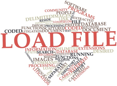 Abstract word cloud for Load file with related tags and terms Stock Photo - 16617513