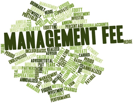 equity: Abstract word cloud for Management fee with related tags and terms