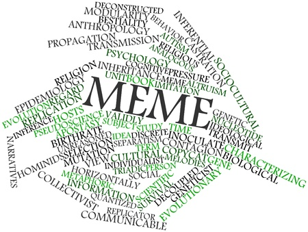 Abstract word cloud for Meme with related tags and terms Stock Photo - 16617595