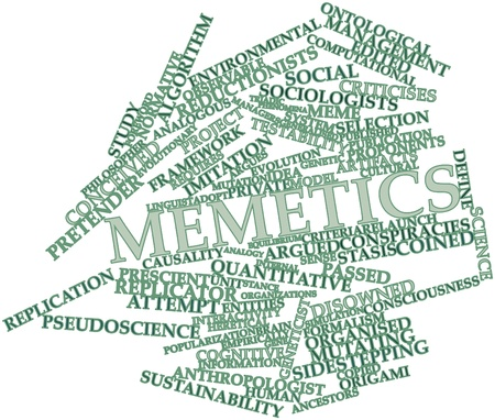 proponents: Abstract word cloud for Memetics with related tags and terms Stock Photo