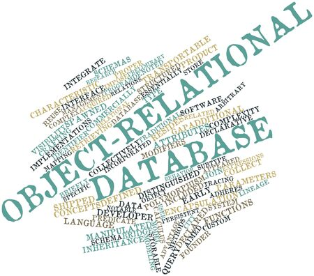 acquired: Abstract word cloud for Object-relational database with related tags and terms