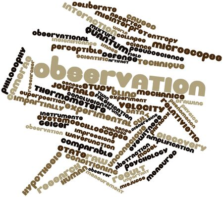 geiger: Abstract word cloud for Observation with related tags and terms Stock Photo