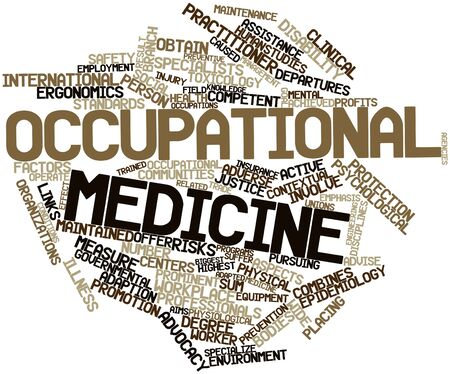 ergonomics: Abstract word cloud for Occupational medicine with related tags and terms