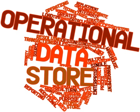 substitute: Abstract word cloud for Operational data store with related tags and terms