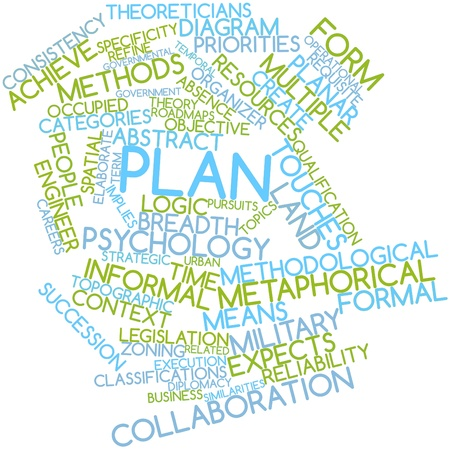 Abstract word cloud for Plan with related tags and terms Stock Photo - 16617598