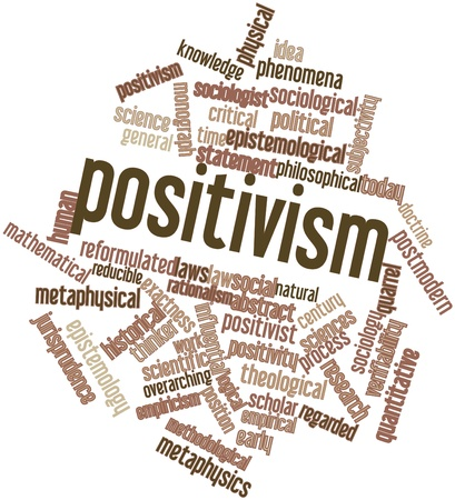 epistemology: Abstract word cloud for Positivism with related tags and terms