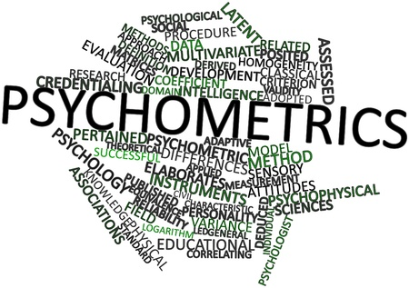 homogeneity: Abstract word cloud for Psychometrics with related tags and terms