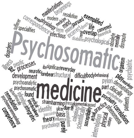 Abstract word cloud for Psychosomatic medicine with related tags and terms Stock Photo - 16617626