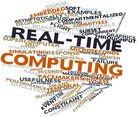 realtime: Abstract word cloud for Real-time computing with related tags and terms