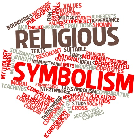 abstract symbolism: Abstract word cloud for Religious symbolism with related tags and terms