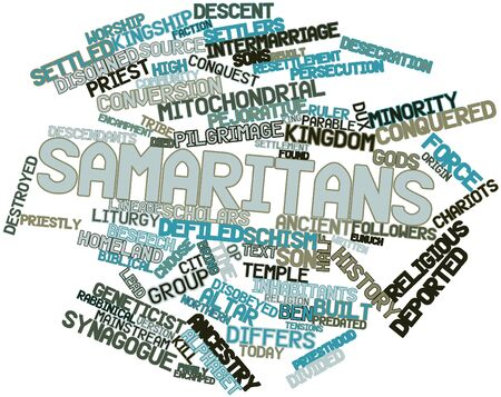 samaritans: Abstract word cloud for Samaritans with related tags and terms Stock Photo