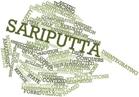 sutra: Abstract word cloud for Sariputta with related tags and terms