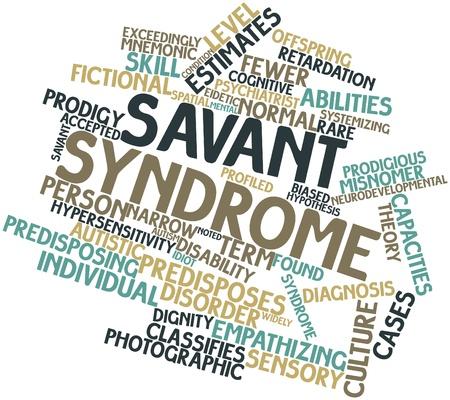 hipotesis: Nube palabra abstracta para el s�ndrome de Savant con etiquetas y t�rminos relacionados
