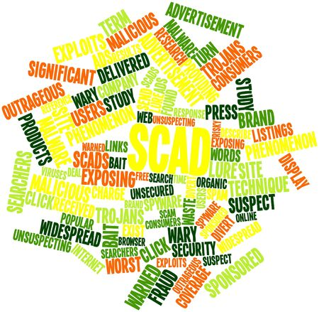 listings: Abstract word cloud for Scad with related tags and terms Stock Photo