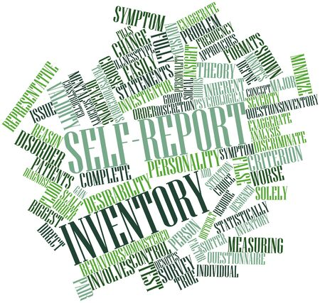 discretion: Abstract word cloud for Self-report inventory with related tags and terms