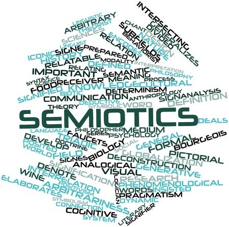 arbitrario: Nube de palabras Resumen de Semiótica con etiquetas y términos relacionados