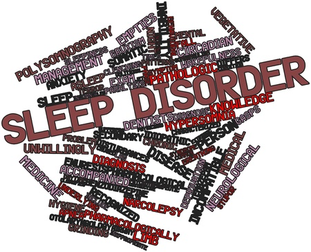 deprivation: Abstract word cloud for Sleep disorder with related tags and terms