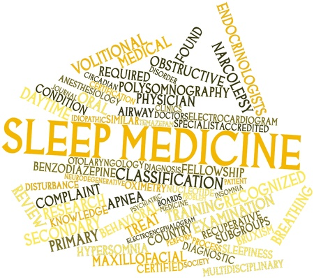 Abstract word cloud for Sleep medicine with related tags and terms photo