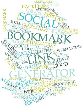Abstract word cloud for Social bookmark link generator with related tags and terms