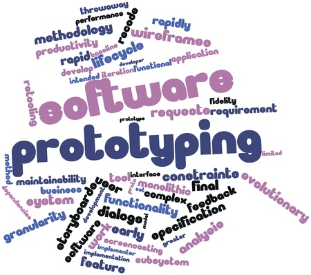 Abstract word cloud for Software prototyping with related tags and terms